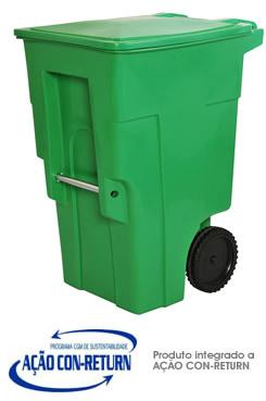Carrinho de Carga Gari de Plastico (Polietileno PEAD) M360 litros
