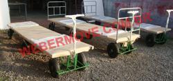 Carrinho Plataforma de aço para transporte de placas longas de Aluminio