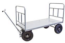 Carrinho de Carga Plataforma Aço, 2 Abas até 800 kg (WM582)