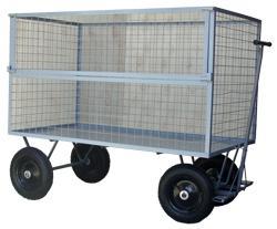 Carrinho Plataforma Telado 5° roda Cap. 800 kg (WM58T)