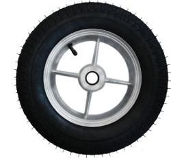 Roda de Aluminio de 8' com Pneu e Camara 350x8 RLAR 202