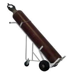 Carrinho de Carga para Transporte de 1 Cilindro Gas (7 a 10 m3 - 40 a 50 litros) Apoio traseiro com rodizio. Cod. WMO1CMAR