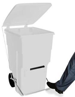 Carrinho de carga Gari de Plastico (Polietileno PEAD) M360 litros com Pedal (Linha Hospitalar)