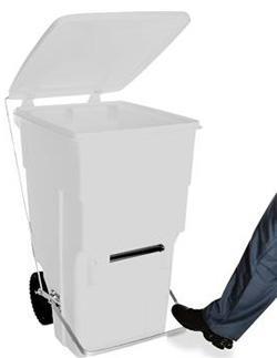 Carrinho de Carga Gari de Plastico (Polietileno PEAD) M360 litros com Pedal