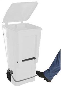 Carrinho de carga Gari de Plastico (Polietileno PEAD) M120 litros com Pedal (Linha Hospitalar)