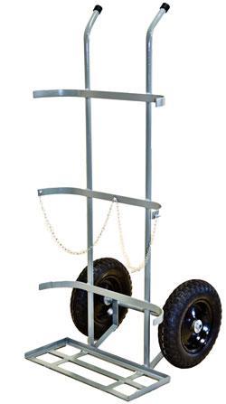 Carrinho de Carga Transporte de Oxigênio (7 a 10 m3 - 40 a 50 litros) Cod. WMO2CP