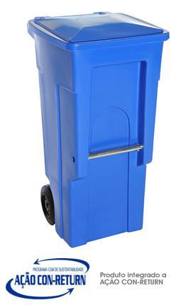Carrinho de Carga Gari de Plastico (Polietileno PEAD) M120 litros